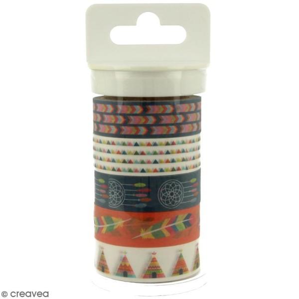 Masking tape Artemio - Totem Indiens - 15 mm x 5 m - 5 pcs - Photo n°1