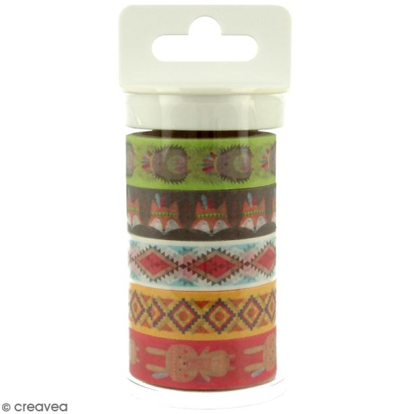 Masking tape Artemio - Totem Grand Manitou - 15 mm x 5 m - 5 pcs - Photo n°1