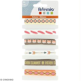 Rubans Artemio - Totem Indian Summer - 1 cm x 1 m - 6 pcs