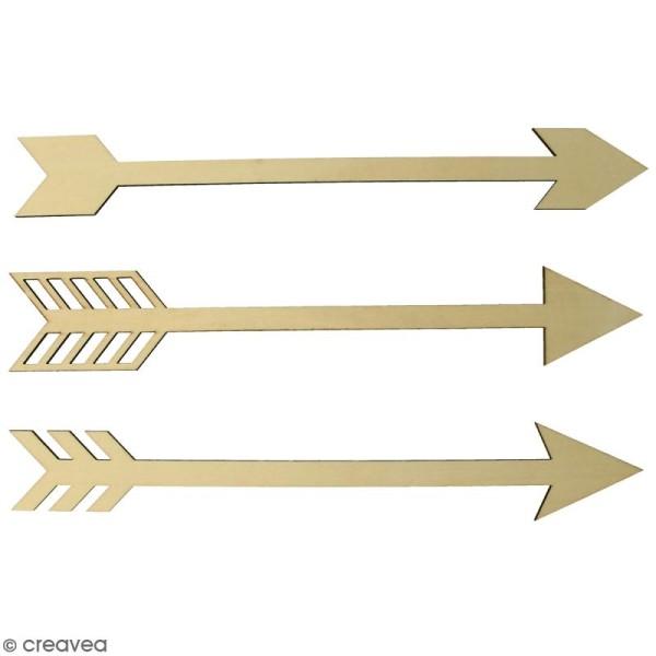 Flèches en bois 35 cm à décorer - 3 pcs - Photo n°2