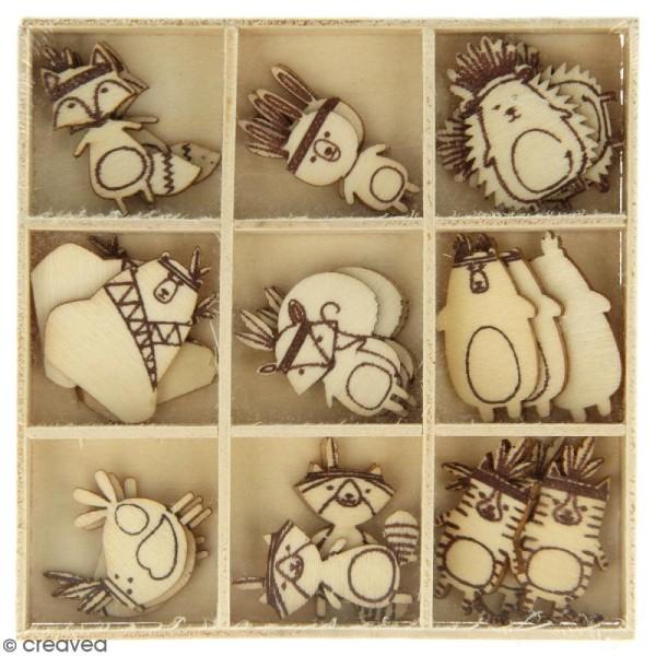 Set de mini silhouettes en bois Totem - 27 pcs - Photo n°2