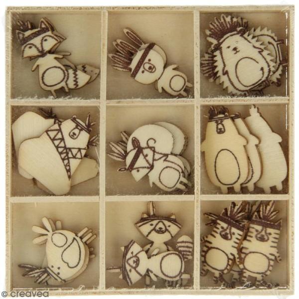 Set de mini silhouettes en bois Totem - 27 pcs - Photo n°1