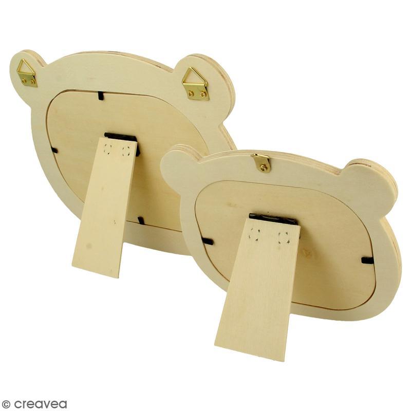 Cadres en bois Ours à décorer - 2 pcs - Photo n°2