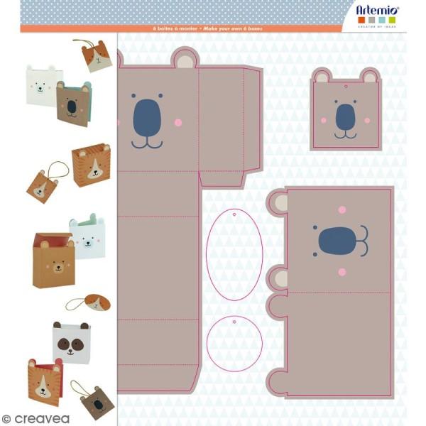 Kit 6 boîtes Adorable à monter - Photo n°1