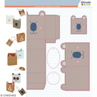 Kit 6 boîtes Adorable à monter