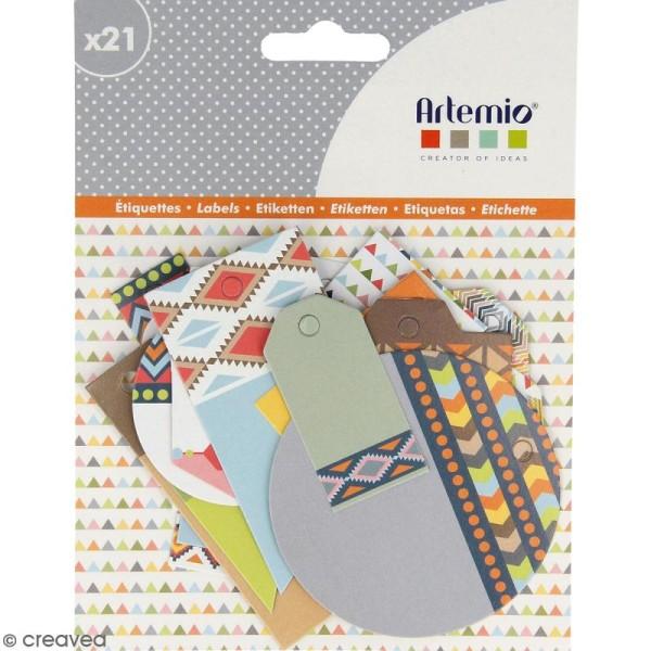 Die cut Artemio - Etiquettes Totem - 21 pcs - Photo n°1