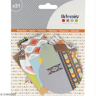 Die cut Artemio - Etiquettes Totem - 21 pcs