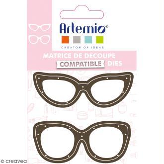 Dies Artemio Fashionista Lunettes - 2 matrices de découpe