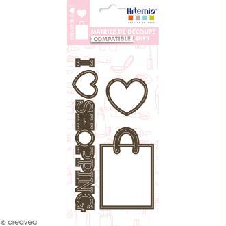 Dies Artemio Fashionista Shopping - 5 matrices de découpe