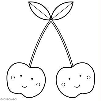 Tampon Bois Artemio - Cerises - 4,5 x 4,5 cm