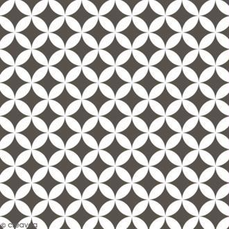 Adhésif décoratif imprimé - Gris à pétales - 45 cm x 2 m