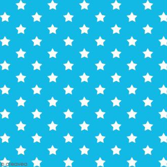 Adhésif décoratif imprimé - Bleu à étoiles - 45 cm x 2 m