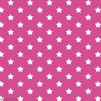 Adhésif décoratif imprimé - Rose à étoiles - 45 cm x 2 m