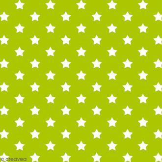 Adhésif décoratif imprimé - Vert à étoiles - 45 cm x 2 m