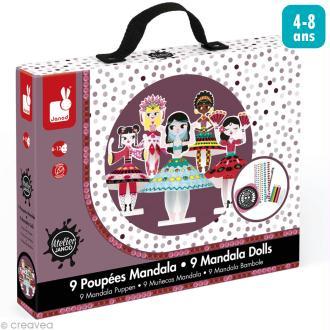 Coffret créatif Mandala - Princesses du monde - 9 poupées