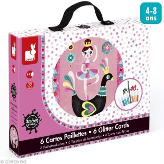 Coffret créatif cartes paillettes - Danseuses - 6 cartes