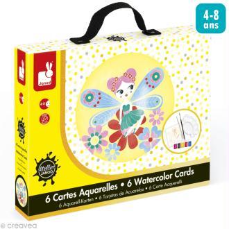 Coffret créatif cartes Aquarelle - Féérie pastelle - 6 cartes