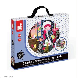 Coffret créatif cartes à gratter - Cendrillon - 6 cartes