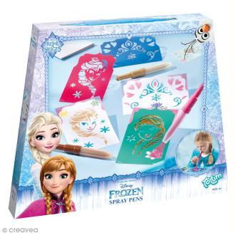 Kit créatif feutres à souffler - La reine des neiges