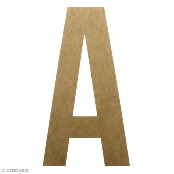 Lettre en bois géante 50 cm - A - Photo n°1