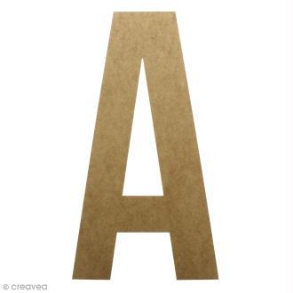 Lettre en bois géante 50 cm - A