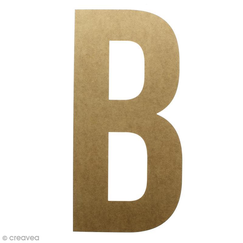 Lettre en bois géante 50 cm - B - Photo n°1
