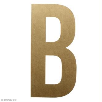 Lettre en bois géante 50 cm - B