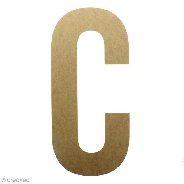Lettre en bois géante 50 cm - C - Photo n°1