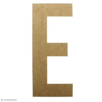 Lettre en bois géante 50 cm - E