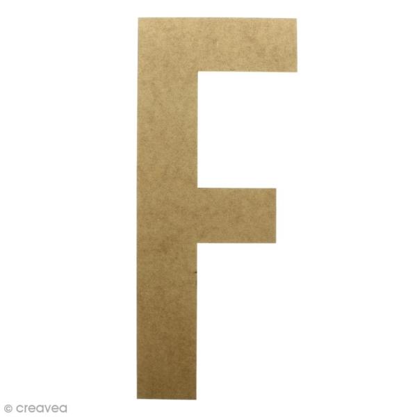 Lettre en bois géante 50 cm - F - Photo n°1
