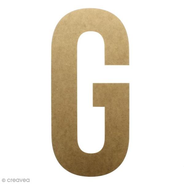 Lettre en bois géante 50 cm - G - Photo n°1