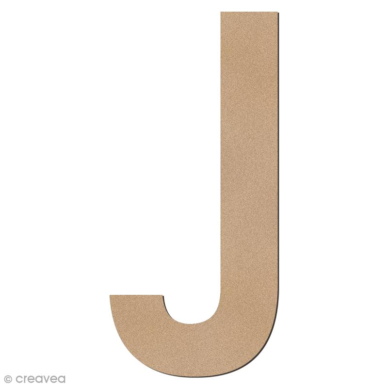 Lettre en bois géante 50 cm - J - Photo n°1