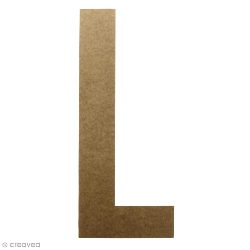 Lettre en bois géante 50 cm - L - Photo n°1