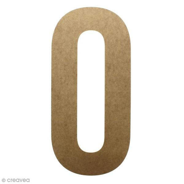 Lettre en bois géante 50 cm - O - Photo n°1