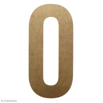 Lettre en bois géante 50 cm - O