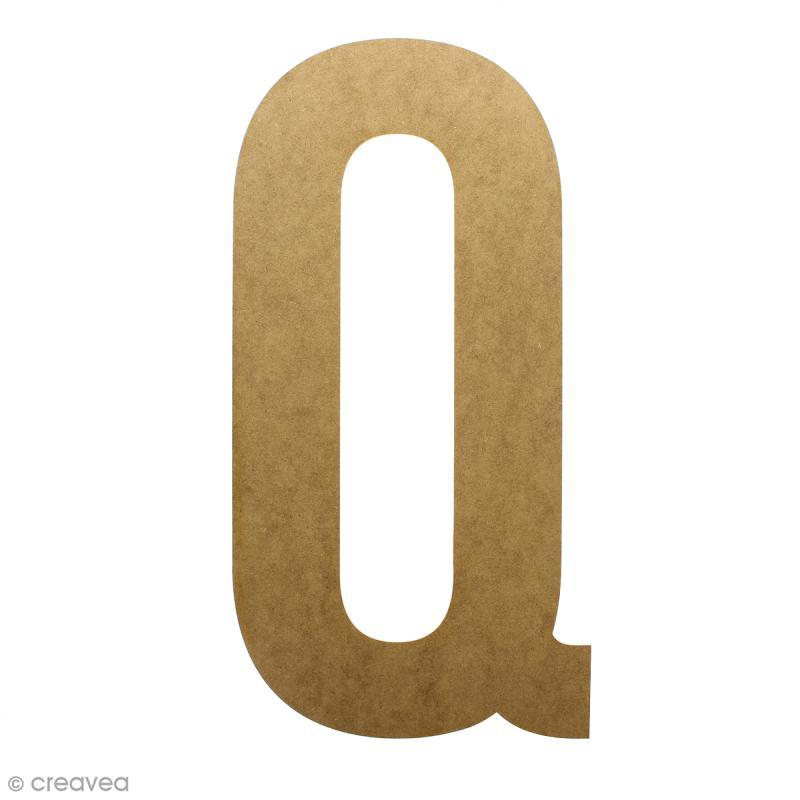 Lettre en bois géante 50 cm - Q - Photo n°1