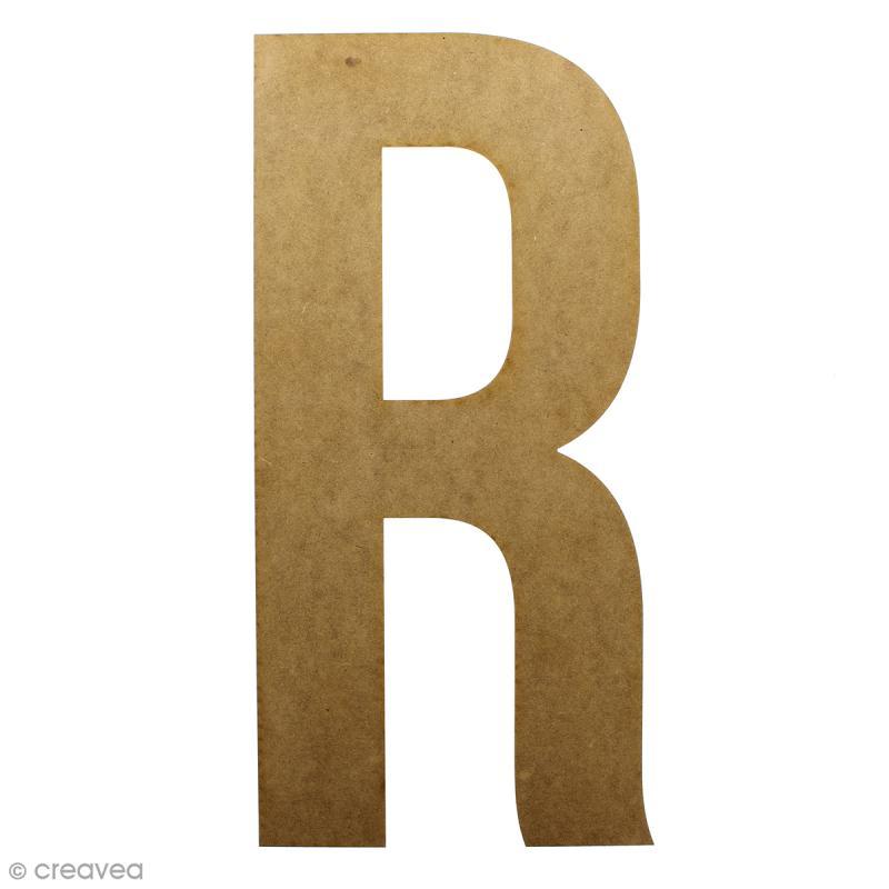 Lettre en bois géante 50 cm - R - Photo n°1