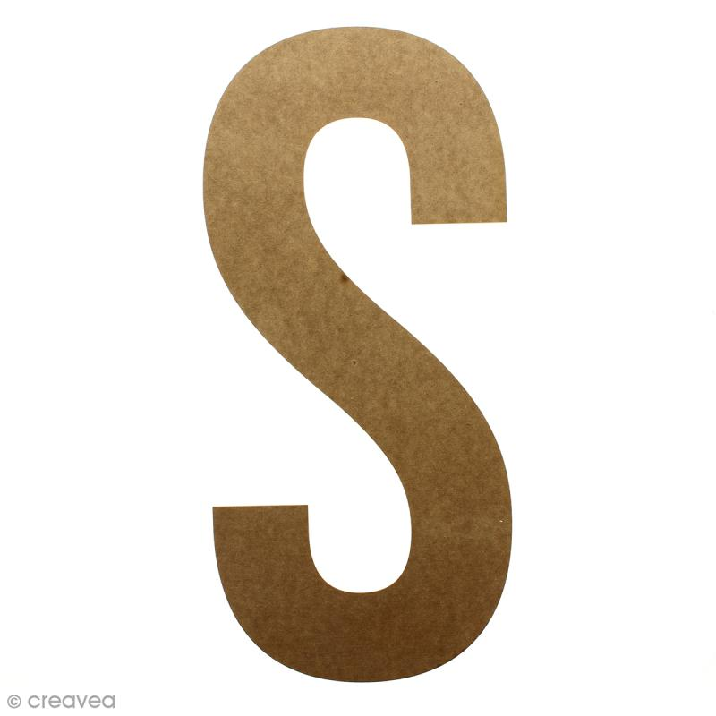 Lettre en bois géante 50 cm - S - Photo n°1