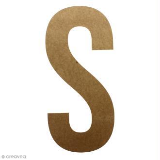 Lettre en bois géante 50 cm - S