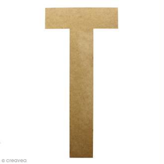 Lettre en bois géante 50 cm - T