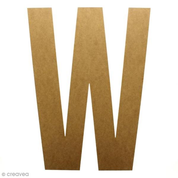 Lettre en bois géante 50 cm - W - Photo n°1
