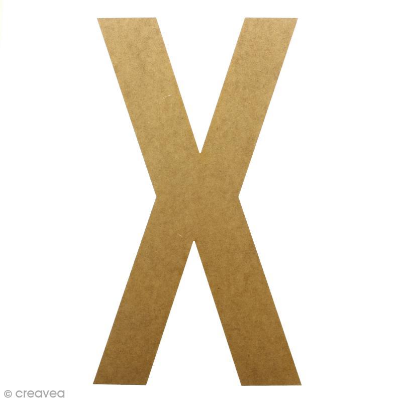 Lettre en bois géante 50 cm - X - Photo n°1