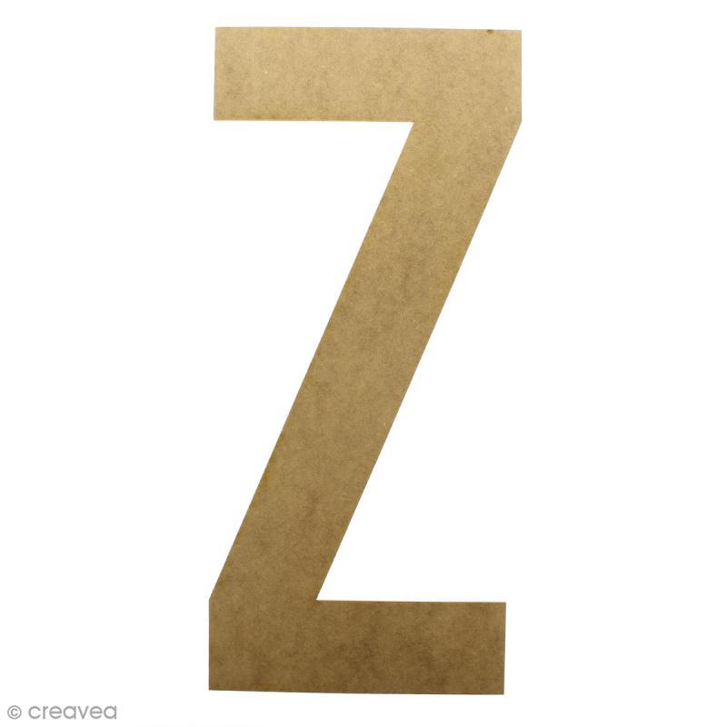 Lettre en bois géante 50 cm - Z - Photo n°1