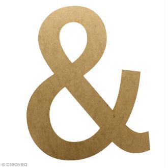 Lettre en bois géante 50 cm - &