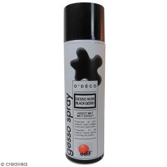 Gesso noir mat en spray - 500 ml