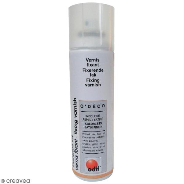 Vernis fixant en spray - Aspect satiné - 250 ml - Photo n°1