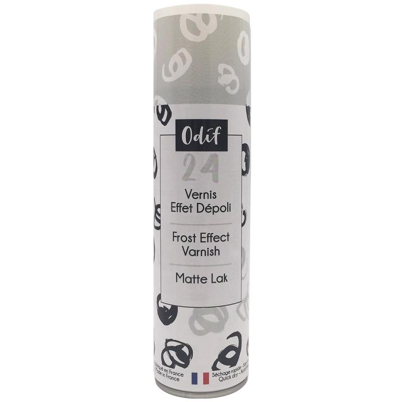 Vernis effet dépoli Blanc en bombe 250 ml - Photo n°1