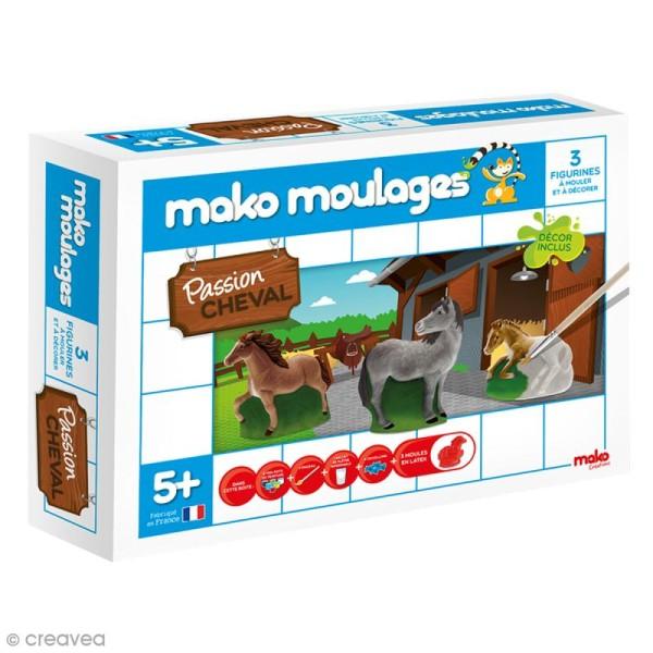 Coffret moulages en plâtre - Passion cheval - Mako moulages - 3 moules - Photo n°1