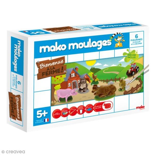 Coffret moulages en plâtre - Bienvenue à la ferme - Mako moulages - 6 moules - Photo n°1