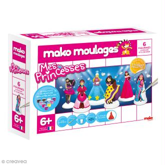 Coffret moulages en plâtre - Mes princesses - Mako moulages - 6 moules